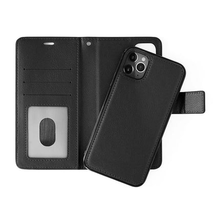 Classic Leather Wallet Case for iPhone XR - Black