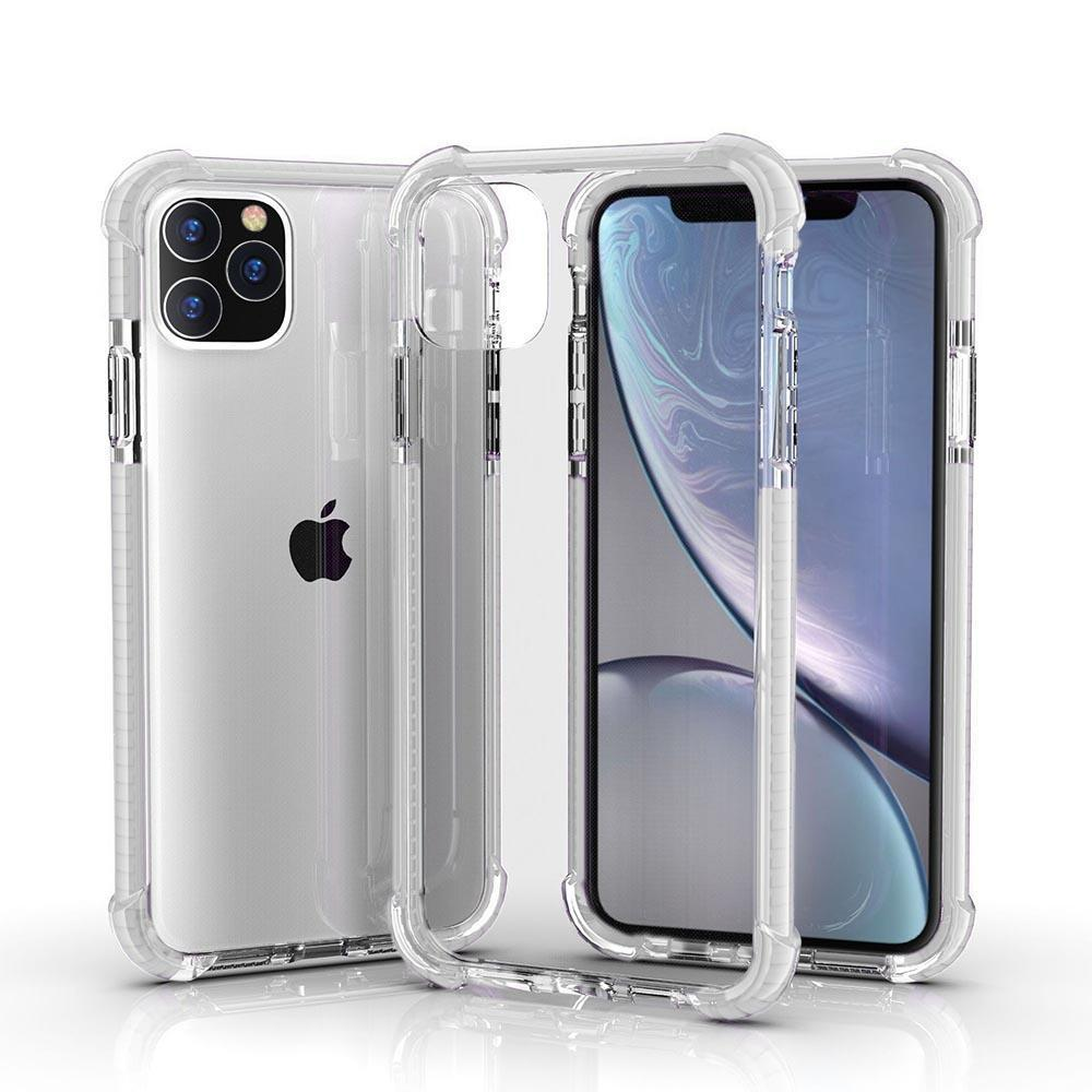 Hard Elastic Clear Case for iPhone  11 Pro - White Edge