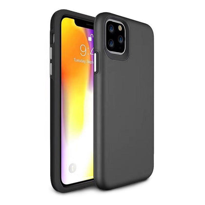 2 in 1 Premium Silicone Case for iPhone 11 - Black