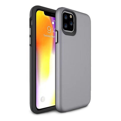 2 in 1 Premium Silicone Case for iPhone 11 Pro Max - Grey