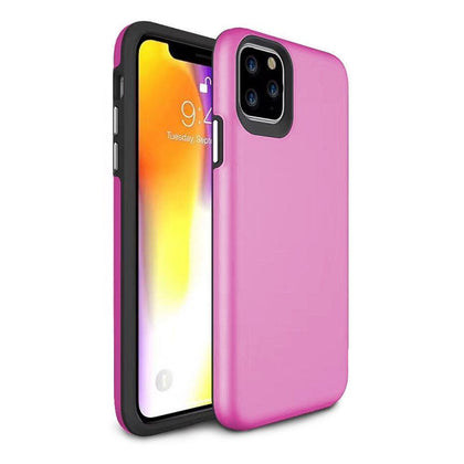 2 in 1 Premium Silicone Case for iPhone 11 Pro - Pink