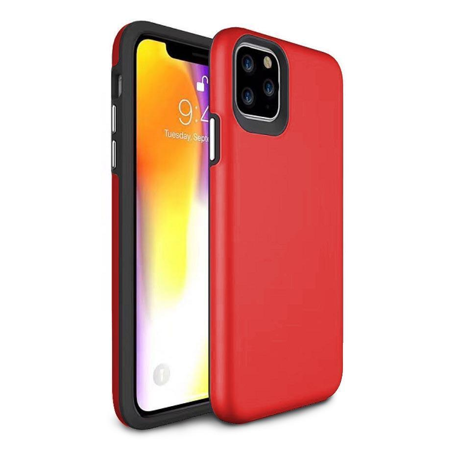 2 in 1 Premium Silicone Case for iPhone 11 - Red