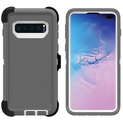 DualPro Protector Case for Samsung S10 - Grey & White
