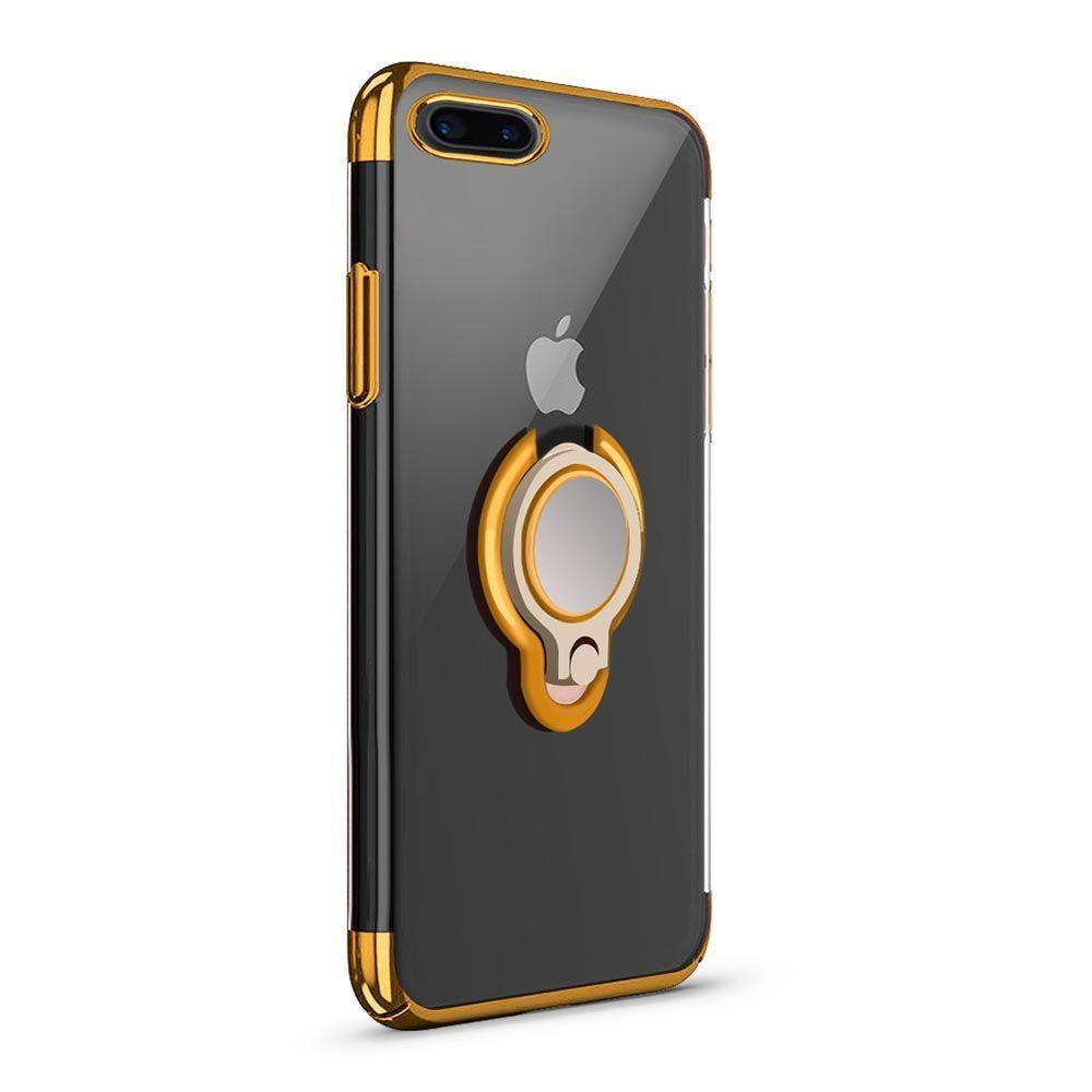 Glossy Edge Ring Case for iPhone 7 - Gold