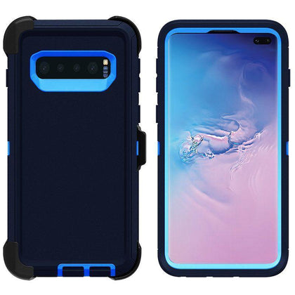 DualPro Protector Case for Samsung S10 - Dark Blue & Blue