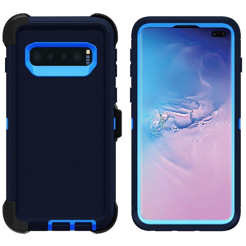 DualPro Protector Case for Samsung S10 Plus - Dark Blue & Blue