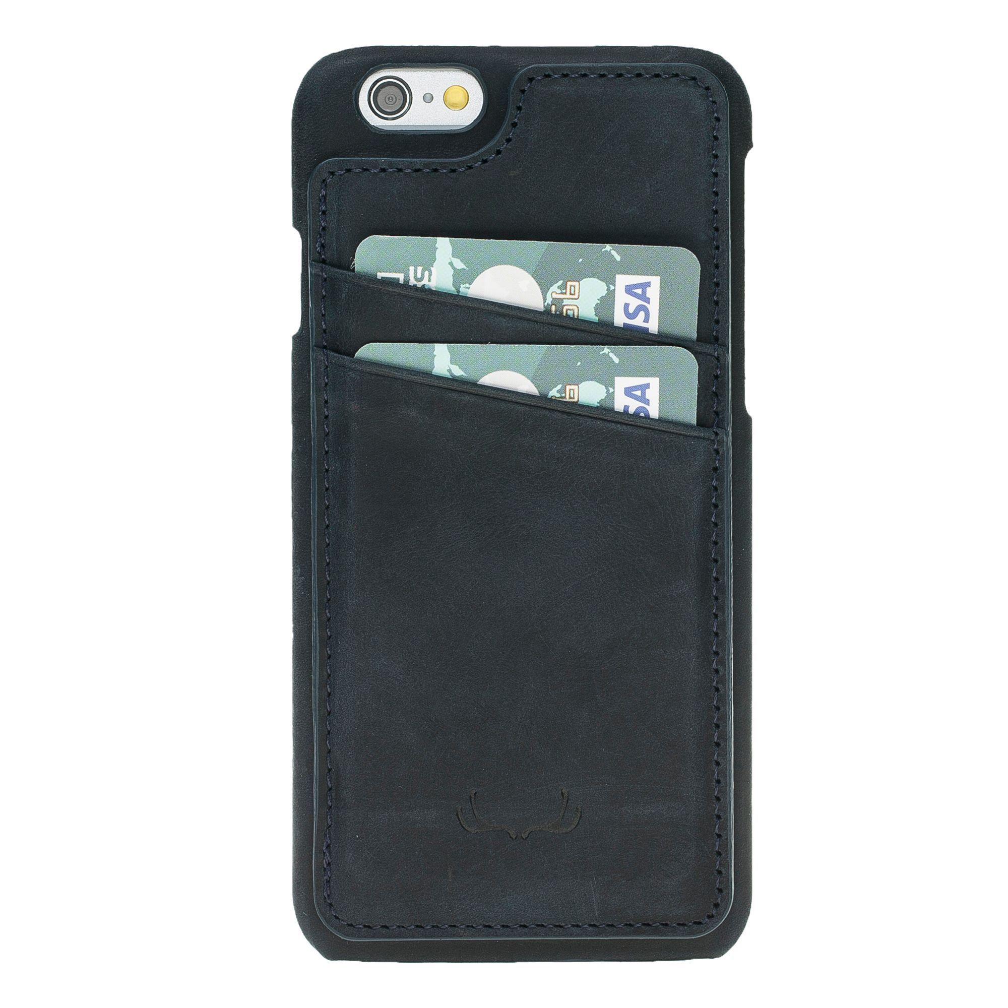 BNT Ultimate Stand Credit Card Leather Cases - Crazy - iPhone 6/6S - Black