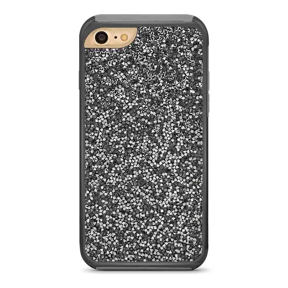 Color Diamond Hard Shell Case for iPhone 6/ 7 /8 - Black