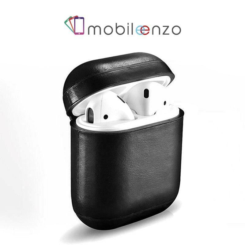 Leather Case for Apple Airpods - Black