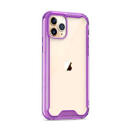 Acrylic Transparent Case for iPhone 11 - Purple