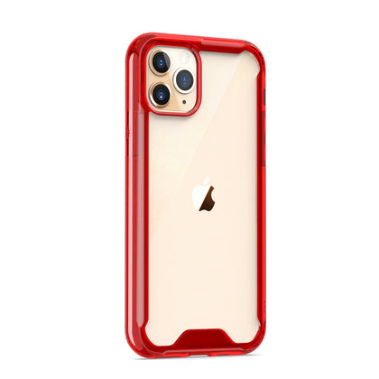 Acrylic Transparent Case for iPhone 11 Pro - Red