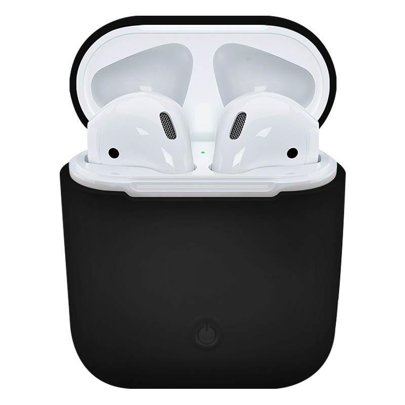 Soft Silicone Case for Apple Airpods - Black