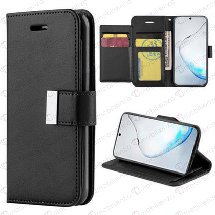 Flip Leather Wallet Case for Note 20 - Black