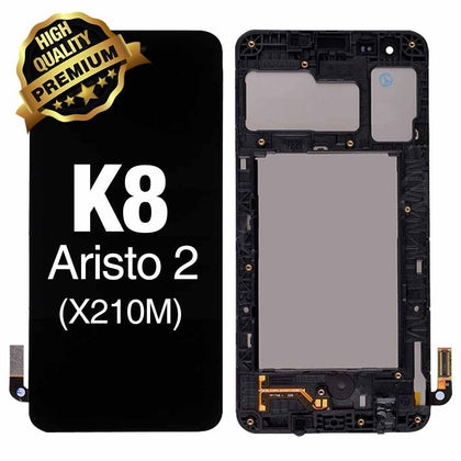 LCD Assembly  for LG K8 2018  (Aristo2 X210) With Frame (Premium Quality) - Black | MobilEnzo