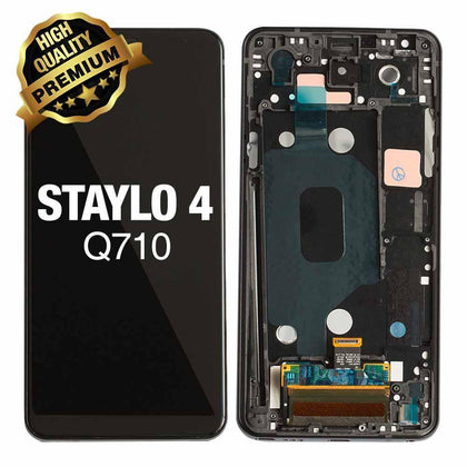 LCD Assembly for LG Stylo 4 (Q710) With Frame (Premium Quality) - Black