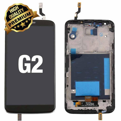 LCD Assembly for LG G2 with Frame (Premium Quality) - Black | MobilEnzo