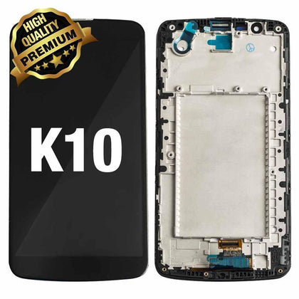LCD Assembly for LG K10 (K410) 2016 With Frame (Premium Quality) -Black | MobilEnzo