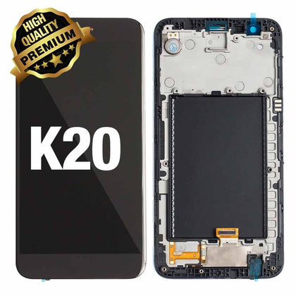 LCD Assembly for LG K20 (VS501)  / (K10 2017 M250) With Frame (Premium Quality) - Black | MobilEnzo