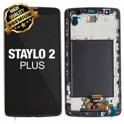 LCD Assembly for LG Stylo 2 Plus (MS550) With Frame (Premium Quality) - Black