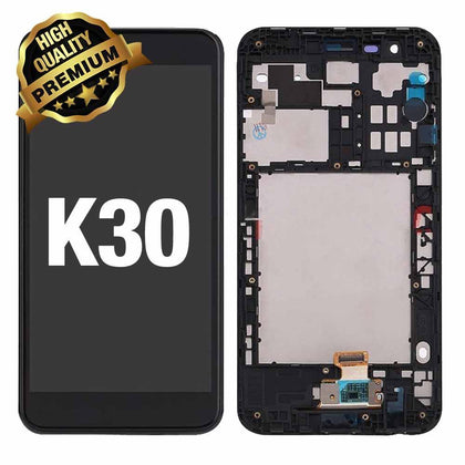 LCD Assembly for LG K30 / K10 (2018)  With Frame  (Premium Quality) - Black
