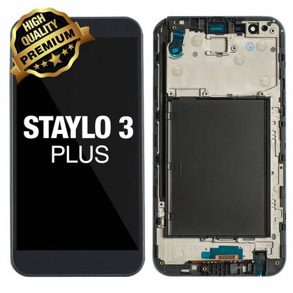 LCD Assembly for LG Stylo 3 Plus (MP450/TP450) With Frame (Premium Quality) - Black | MobilEnzo