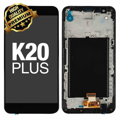 LCD Assembly for LG K20 Plus (MP260)  With Frame (Premium Quality) - Black | MobilEnzo
