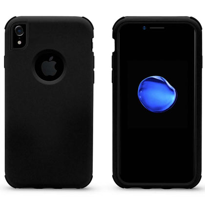 Bumper Hybrid Combo Layer Protective Case for iPhone XR - Black