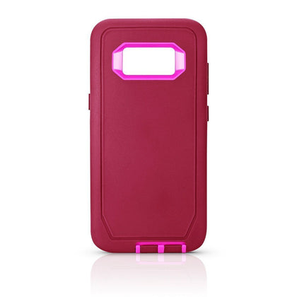 DualPro Protector Case for S8 - Burgundy & Pink