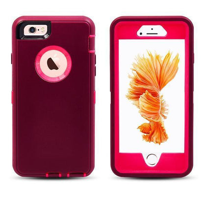 DualPro Protector Case for i7 /8 - Burgundy and Pink