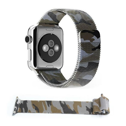 Stainless Steel iWatch Band 42/44mm - Camouflage