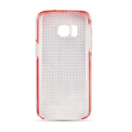 Shiny Elastic Dot Case for S6EP - Red Edge