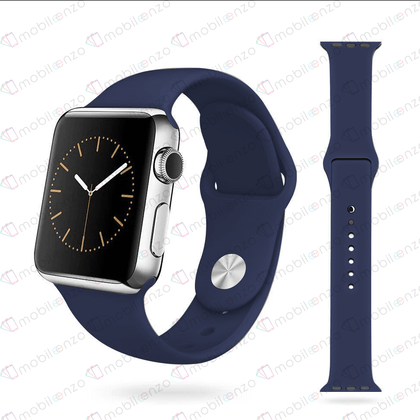 Premium Silicone Bands For iWatch 38mm - Dark Blue