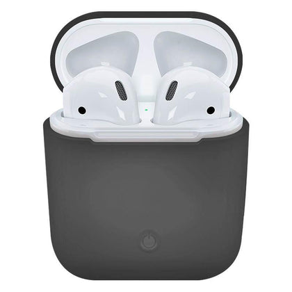 Soft Silicone Case for Apple Airpods - Dark Grey