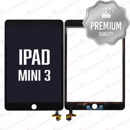Digitizer With IC Chip For iPad Mini 3 - Black