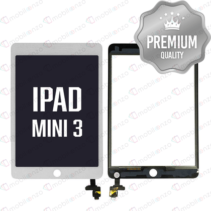Digitizer With IC Chip For iPad Mini 3 - White