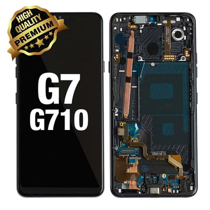 LCD Assembly for LG G7 Thing Q (G710) With Frame (Premium Quality) - Black