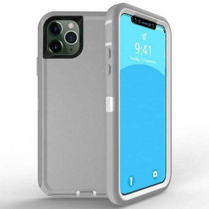 DualPro Protector Case for iPhone 11 - Grey & White