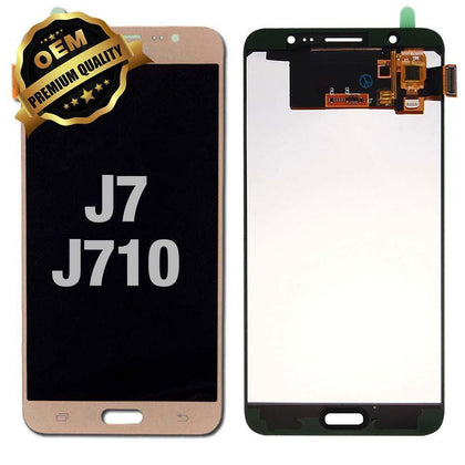 LCD Assembly for GALAXY J7 (J710 / 2016) (Premium) - Gold