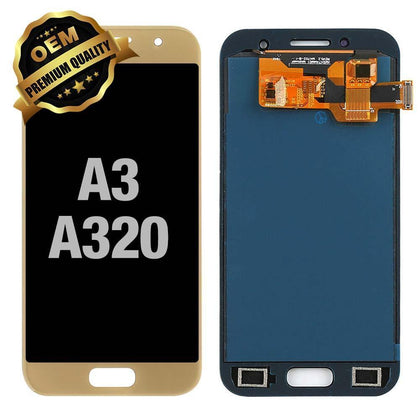 LCD Assembly for GALAXY A3 (A320 / 2017) (Premium) - Gold