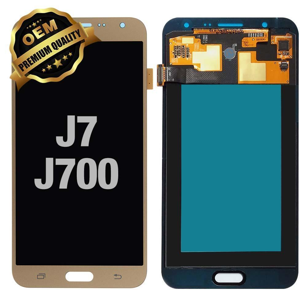 LCD Assembly for GALAXY J7 (J700 / 2015) (Premium) - Gold