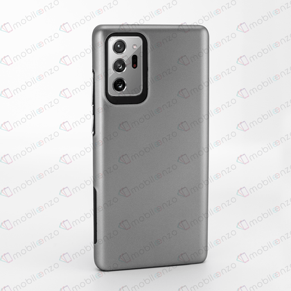 2 in 1 Premium Silicone Case for Note 20 - Gray