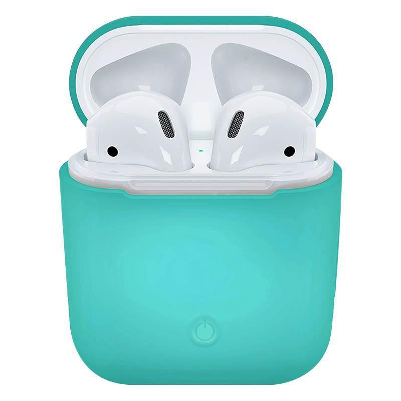 Soft Silicone Case for Apple Airpods - Green