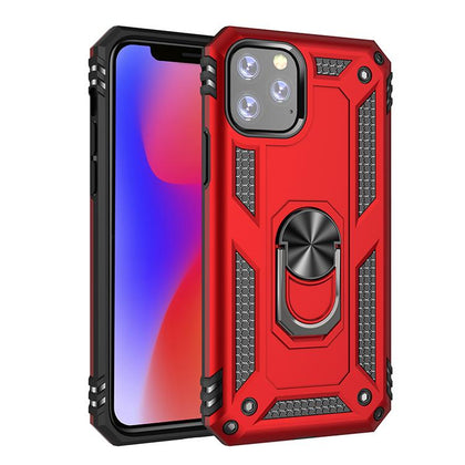 Military Armor Ring Case for iPhone 11 Pro - Red