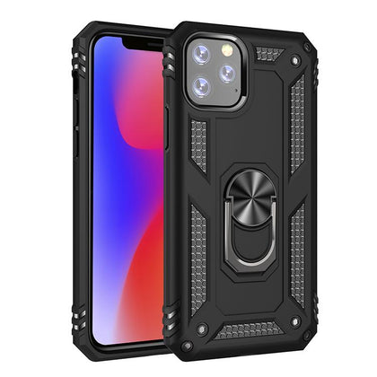 Military Armor Ring Case for iPhone 11 Pro - Black