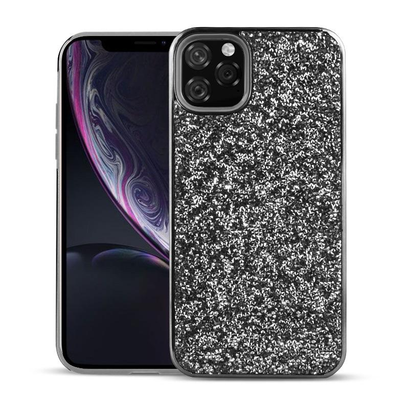 Color Diamond Hard Shell Case for iPhone 11 - Black