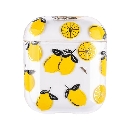 Transparent Summer Case for Apple Airpods 1/2 - Lemon