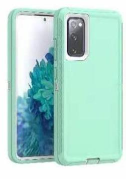 DualPro Protector Case for Galaxy S20 FE - Teal & White