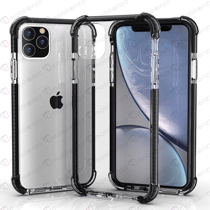 Hard Elactic Clear Case for iPhone 12 / 12 Pro (6.1) - Black Edge