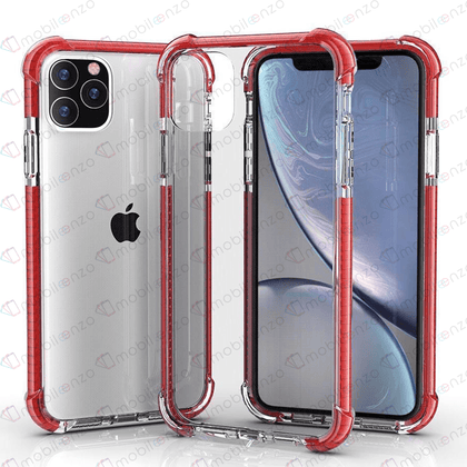 Hard Elactic Clear Case for iPhone 12 / 12 Pro (6.1) - Red Edge