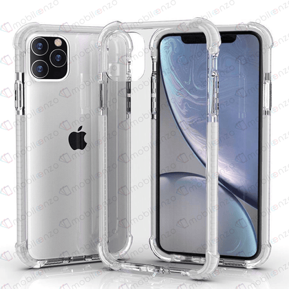 Hard Elactic Clear Case for iPhone 12 Pro Max (6.7) - White Edge